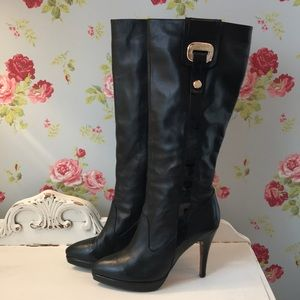🌟Pierre Cardin🌟 Sexy black leather boots🌟🌟